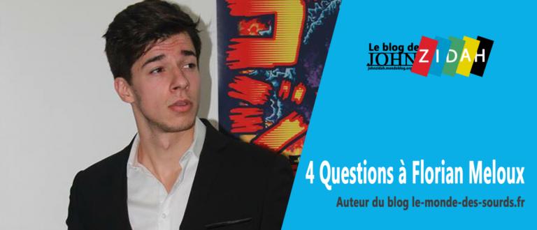 Article : Avec son blog, Florian Meloux veut que les sourds «rêvent plus grand»