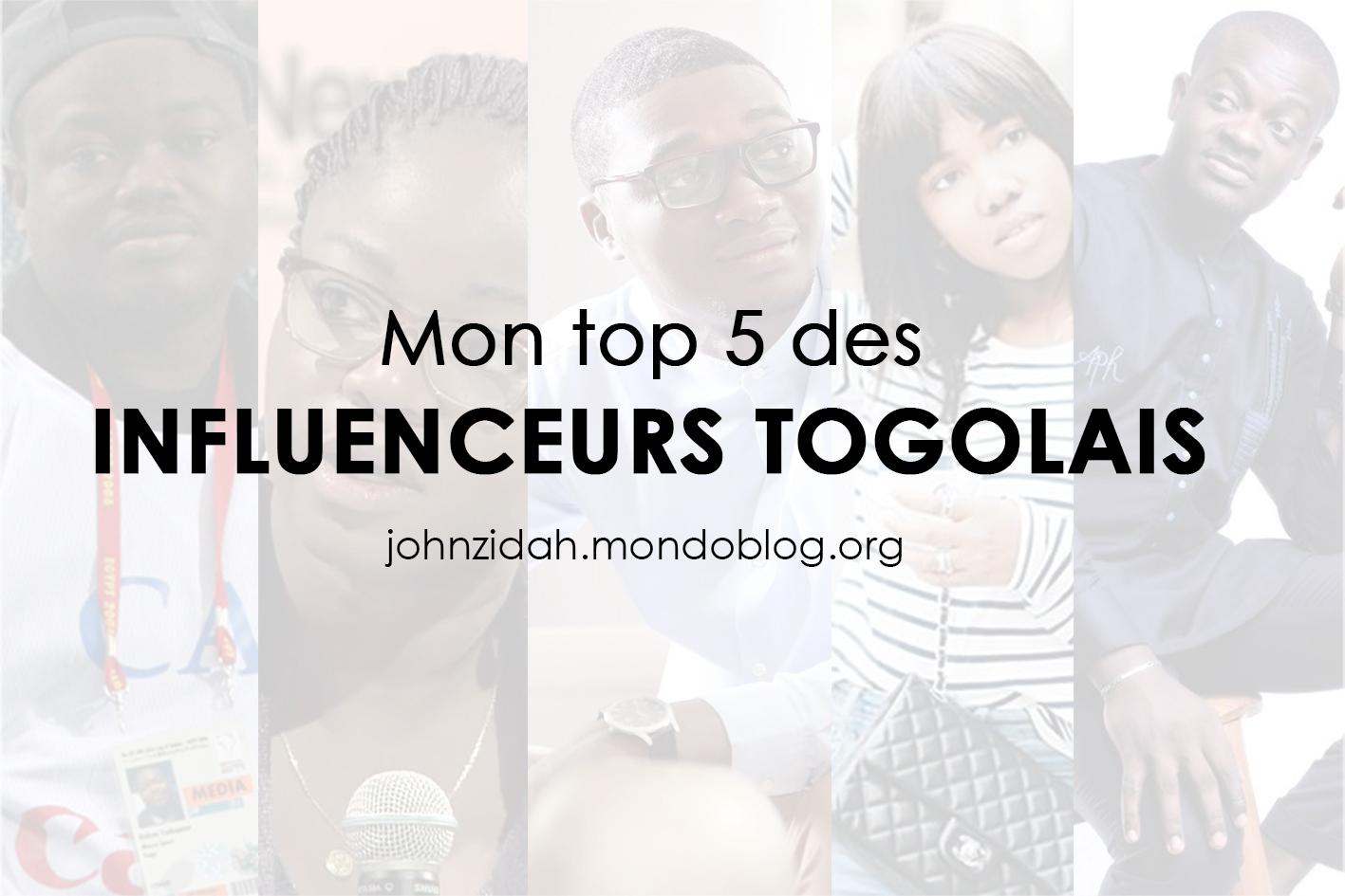 Mon top 5 des influenceurs togolais